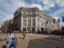 牛津马戏的人们在伦敦 免版税库存照片