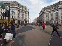 牛津马戏的人们在伦敦 库存照片