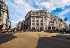 牛津马戏的人们在伦敦(hdr) 免版税图库摄影