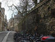 牛津,英国老街道  库存图片