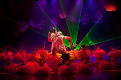 牡丹亭--历史样式歌曲和舞蹈戏曲不可思议的魔术-淦Po 免版税图库摄影