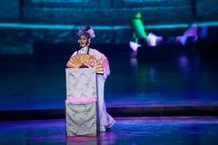 牡丹故事--历史样式歌曲和舞蹈戏曲不可思议的魔术-淦Po 免版税图库摄影