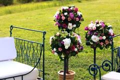 牡丹玫瑰花婚礼花束  免版税库存图片