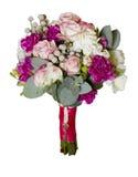 牡丹玫瑰花束  免版税库存图片