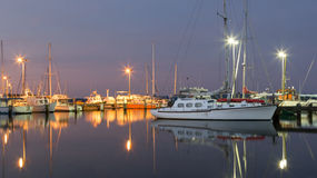 牡蛎港口小游艇船坞 图库摄影