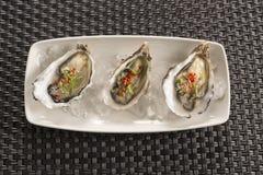 牡蛎用辣椒&姜 库存照片