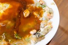 牡蛎omele,台湾纤巧台湾特别传统快餐  免版税库存图片
