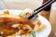 牡蛎omele,台湾纤巧台湾特别传统快餐  免版税图库摄影