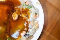 牡蛎omele,台湾纤巧台湾特别传统快餐  免版税库存照片