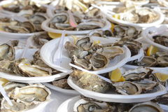 牡蛎Party_Montmartre节日在巴黎 库存照片