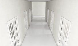 牢房走廊 库存例证