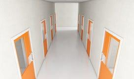 牢房走廊 向量例证