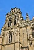 牧师会主持的教堂圣徒Gisors的赫瓦希圣徒Protais在诺马 免版税库存照片