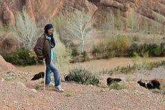 牧羊人在摩洛哥 免版税库存照片