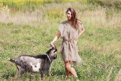 牧羊女 库存图片