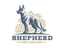 牧羊犬商标-传染媒介例证 向量例证