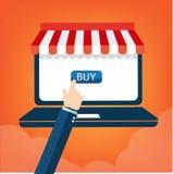 购物与机动性的五颜六色的象 事务的背景和 免版税库存照片