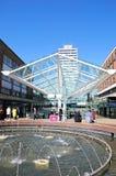 购物中心和喷泉,考文垂 免版税库存照片
