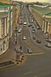 购物中心在涅夫斯基远景的Gostiny Dvor顶视图  免版税库存照片