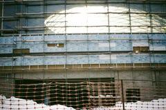 购物中心的抽象背景迷离建造场所 免版税库存图片