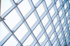 购物中心的玻璃屋顶 库存照片