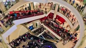 购物中心行人交通 股票视频