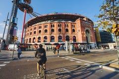 购物中心Las竞技场在巴塞罗那 免版税库存图片