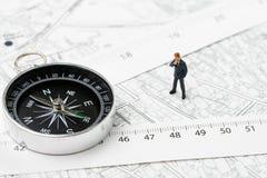 物产或房地产地点,方向,航海a地图  免版税库存图片