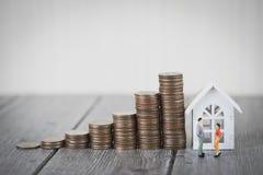 物产投资和房子抵押财政概念,家保护,保险 您的文本的拷贝空间 库存照片
