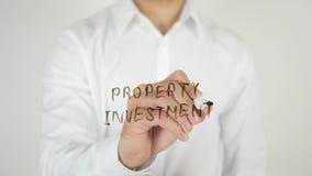 物产投资,写在玻璃 图库摄影