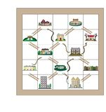 物产蛇和梯子 向量例证