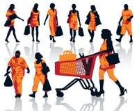 购物人 向量例证
