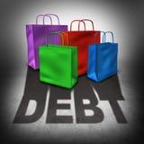 购物债务 免版税库存图片