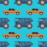 货物卡车无缝的样式传染媒介例证 图库摄影