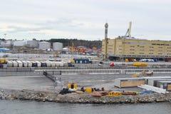 货物口岸在斯德哥尔摩 免版税库存图片