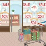 购物和礼物 用在白色背景的戴西装饰的季节性sale.green标签 免版税库存图片