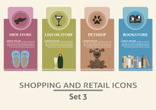 购物和零售标签 库存图片