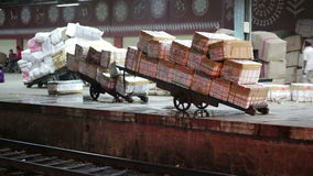 物品准备好运输 股票录像