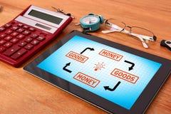 物品和金钱计划 免版税图库摄影