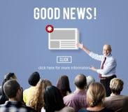 物品新闻时事通讯公告每日概念 免版税库存照片