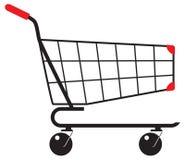 物品的推车在商店 库存照片