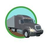 物品的运输的卡车 库存例证