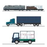 物品陆地运费  向量例证