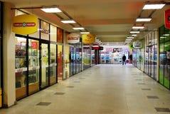 购物在汽车站在立陶宛维尔纽斯市的首都 免版税库存照片