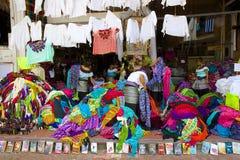购物在海滨del卡门,墨西哥 免版税库存图片