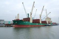 货物在港口 免版税库存图片