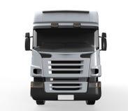 货物在白色背景隔绝的送货卡车 库存照片