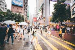 购物在铜锣湾在香港,中国 免版税库存图片
