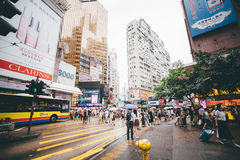 购物在铜锣湾在香港,中国 免版税图库摄影