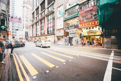 购物在铜锣湾在香港,中国 免版税库存照片